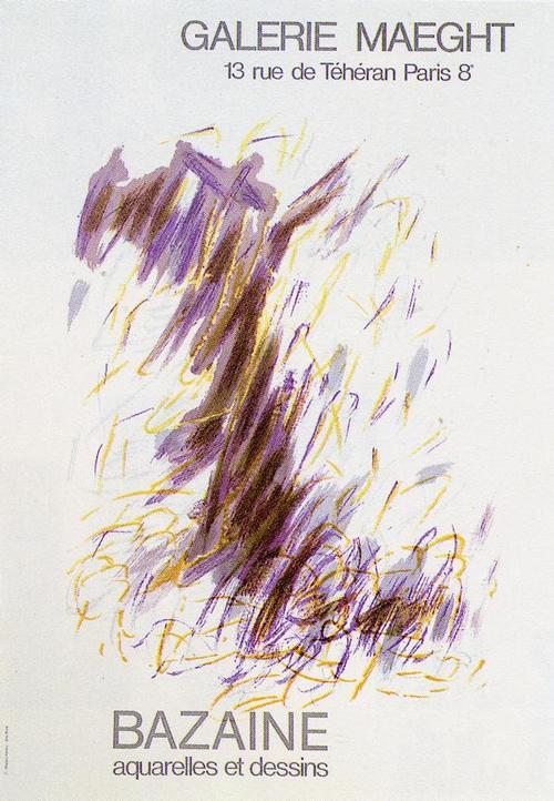 Jean René Bazaine - Aquarelles et dessins, Plakat Maeght, 1968 kopen? Bied vanaf 60!