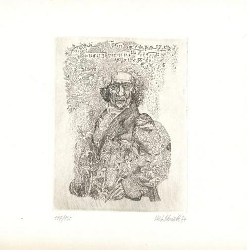 Veit Schmitt - Archivarius Lindhorst - aus E.T.A. Hoffmann - Der goldene Topf - Radierung - 1974 kopen? Bied vanaf 50!