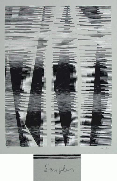 Michel Seuphor - - Arpéges? - Serigrafie, handsigniert, numeriert, 1961 kopen? Bied vanaf 390!