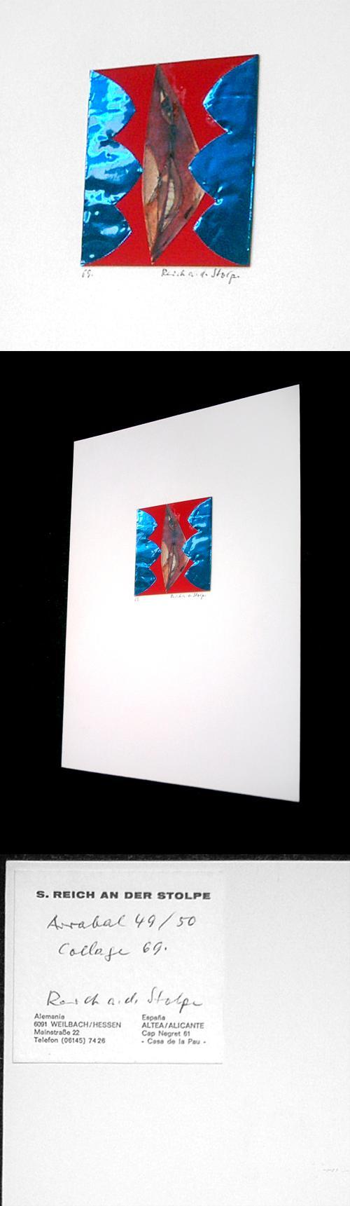 Siegfried Reich an der Stolpe - Arrabal 49/50, Collage, 1969. kopen? Bied vanaf 150!