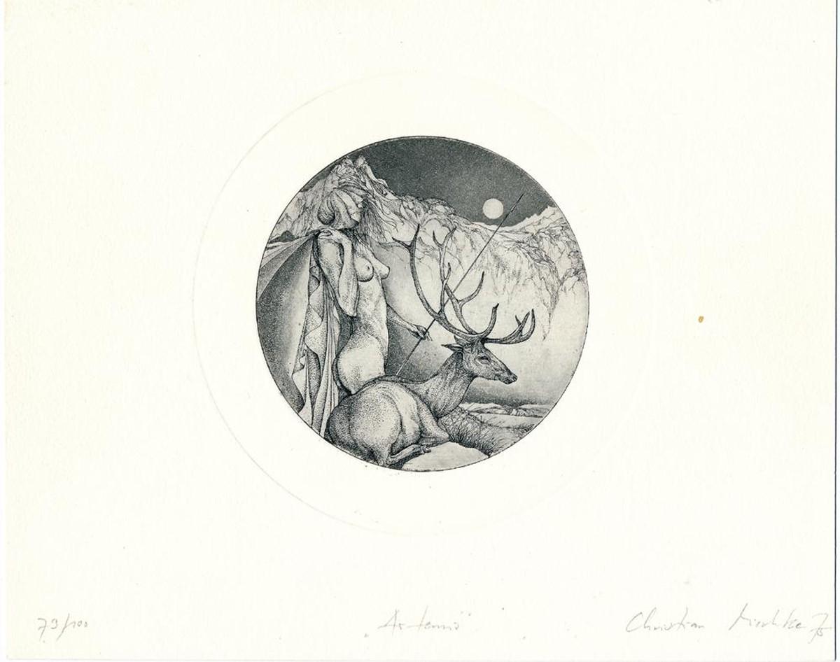 Christian Mischke - Artemis, Radierung, 1975 kopen? Bied vanaf 96!