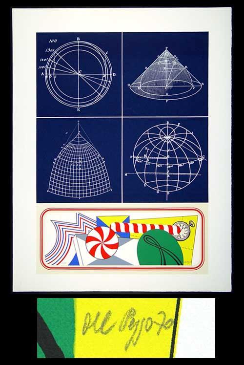 Lucio del Pezzo - Astronomia - Farblithographie 1970 - handsigniert und nummeriert - 63/100 kopen? Bied vanaf 160!