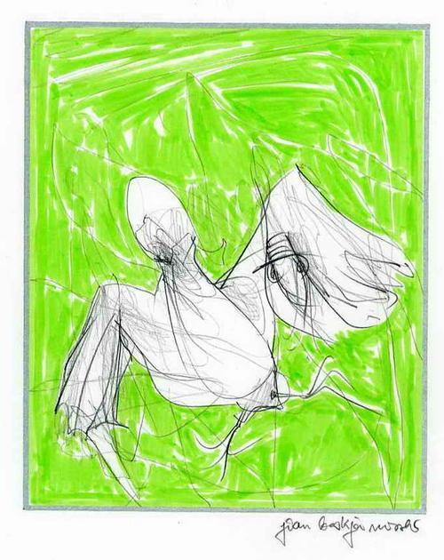 Jean Boskja Missler - Auf FLEDERMAUSFLÜGELN Handsignierte & colorierte OriginalBleistiftzeichnung des Künstlers aus KASSEL kopen? Bied vanaf 39!