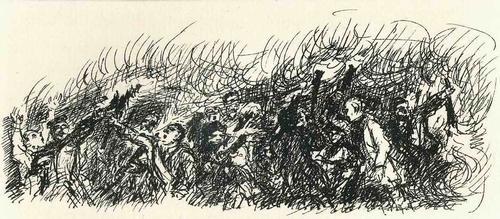 Max Slevogt - AUFRUHR - OriginalLithographie des BERLINer AKADEMIE Professoren zu Adolf v. MENZELs PERSONALIA 1924 kopen? Bied vanaf 55!