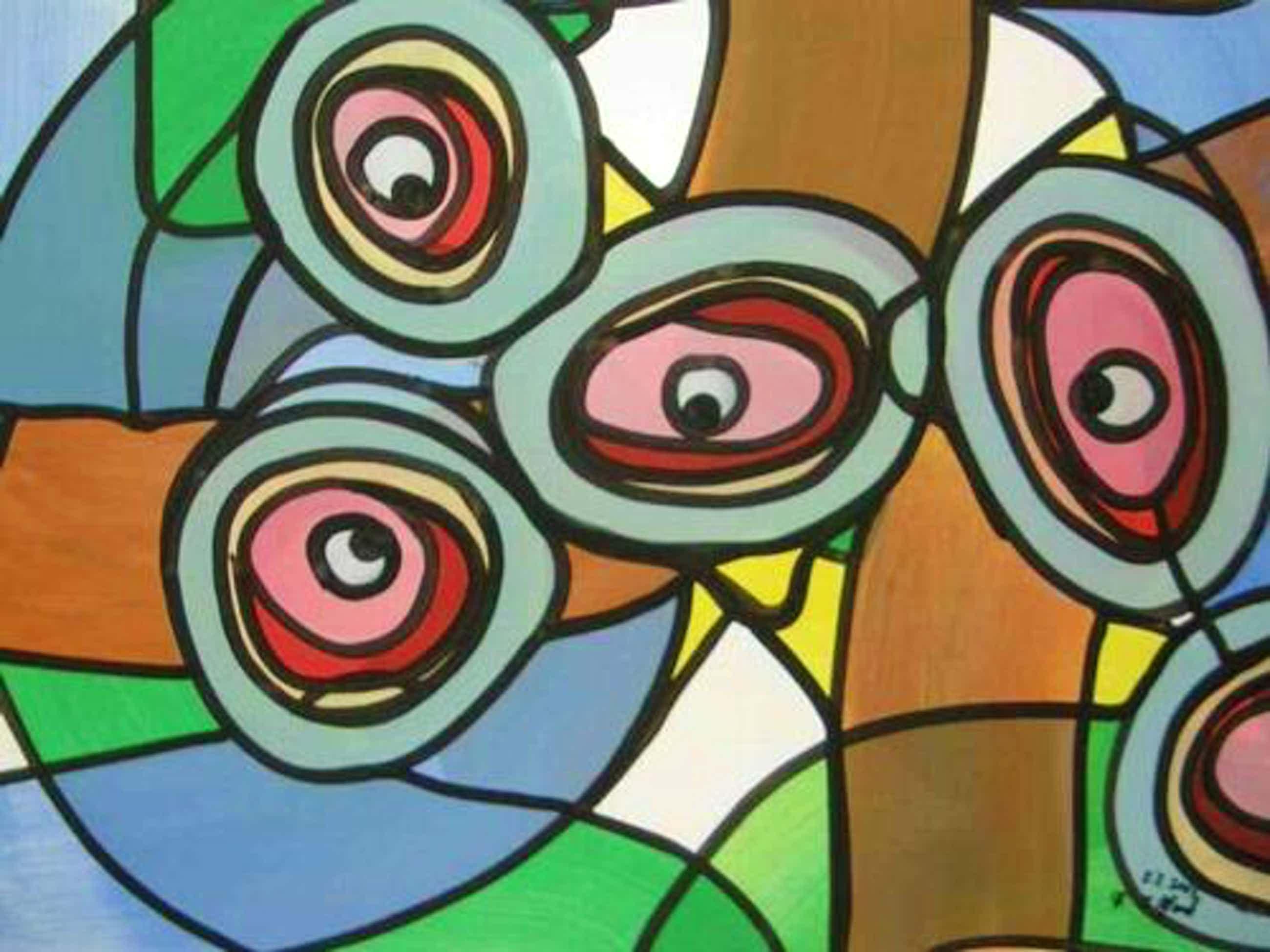 Franz J. Blank - AUGENSCHMAUS - Grosse POP-ART Acrylmalerei - Handsigniert 2003 (Extravaganza Florida VISIONEN 2000) kopen? Bied vanaf 99!