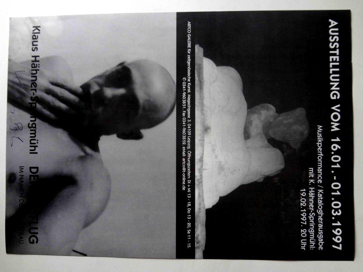 Klaus Hähner-Springmühl - Ausstellungsplakat(handsigniertes Original), DER AUSFLUG IM NAMEN DER JUNGFRAU, 1997, Leipzig kopen? Bied vanaf 69!