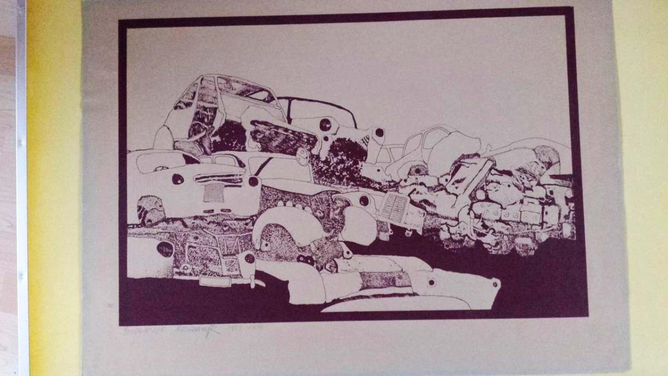 Herbert Pasiecznyk - Autofriedhof, Probedruck von 1973 kopen? Bied vanaf 50!