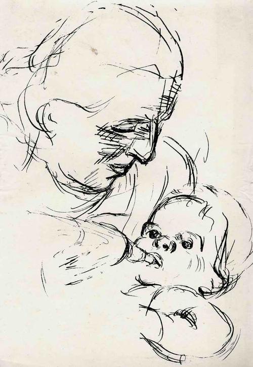 Josef Kneer - BABIES - 1930 - 3 Handsignierte OriginalLithographien - MUTTER mit FLASCHENKIND kopen? Bied vanaf 65!