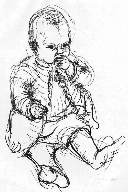 Josef Kneer - BABY - Handsignierte OriginalLithographie 1932 ANNA REGINA kopen? Bied vanaf 38!