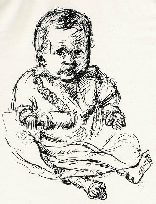 Josef Kneer - BABY mit RASSEL - Handsignierte OriginalLithographie 1932 Tituliert: ANNA REGINA kopen? Bied vanaf 38!