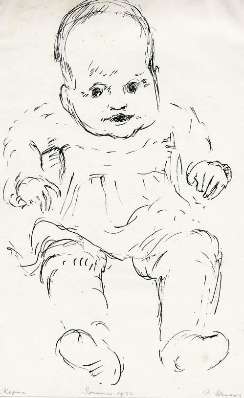 Josef Kneer - BABY - SOMMER 1932 - Handsignierte OriginalLithographie - ANNA REGINA kopen? Bied vanaf 38!