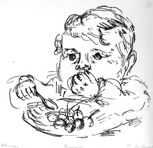 Josef Kneer - BABY - SOMMER 1932 - Handsignierte OriginalLithographie - JOHANNES kopen? Bied vanaf 38!
