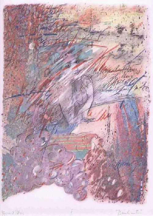 Max Condula - - BACHANTIN - handsignierte OriginalFarlithographie - épreuve d artiste d. U5-Gründers MÜNCHEN kopen? Bied vanaf 125!