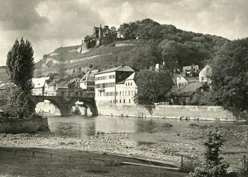 Paul W. John - BAD KREUZNACH / NAHE - BLICK über die ALTSTADT zum KANZENBERG - um 1935 - Handabzug des Photographen kopen? Bied vanaf 38!