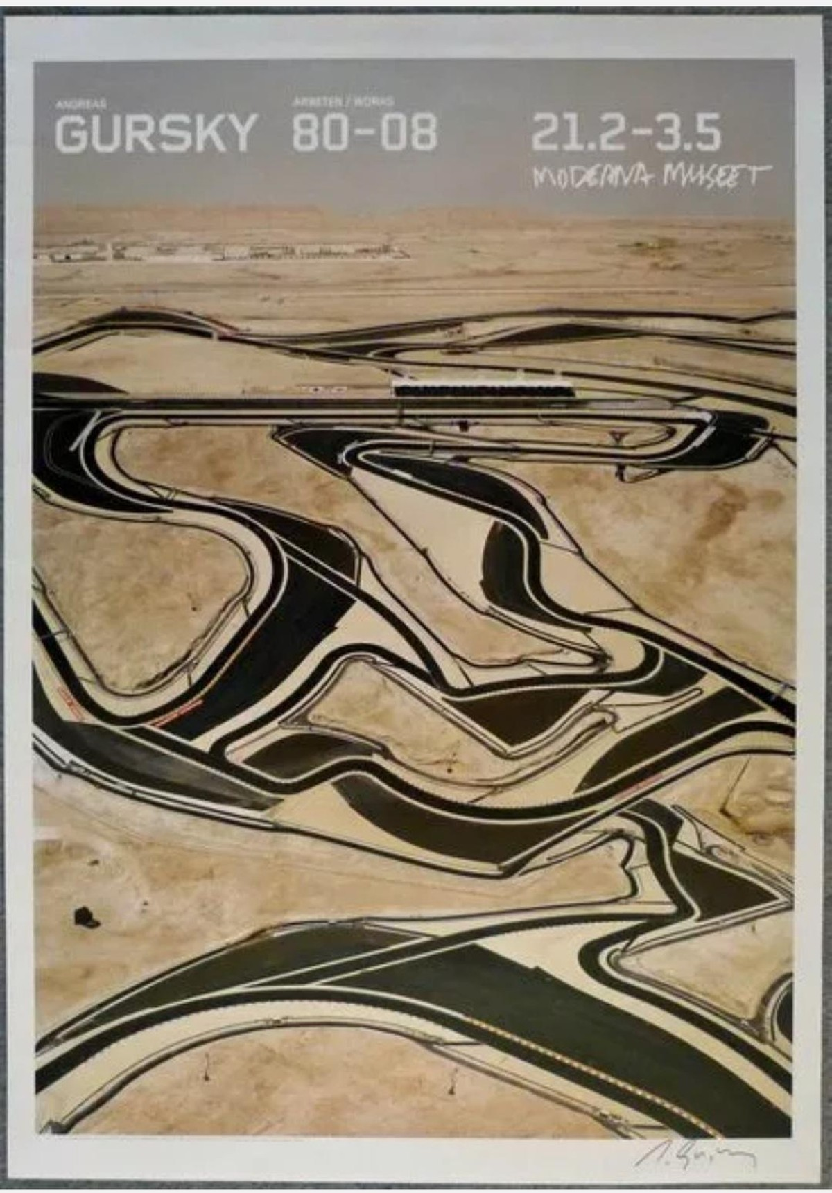 Andreas Gursky - Bahrain, Farboffset, signiert kopen? Bied vanaf 2000!