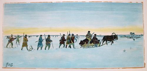 Julian Falat - Bärenjagd, Farblithografie auf festem Papier kopen? Bied vanaf 165!