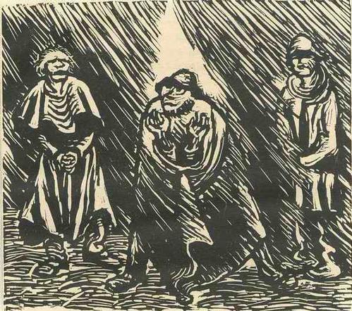 Ernst Barlach - BASS DISKANT TENOR - GRUPPE VON 3 SÄNGER - 1922 - OriginalHolzschnitt a.d.Holzschnittfolge FINDLING kopen? Bied vanaf 75!