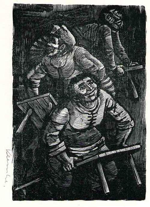 Werner Klemke - BAUERLICHES BÄNKERÜCKEN - Handsignierter OriginalHolzstich des Illustratoren: Gründer d.Pirckheimer kopen? Bied vanaf 55!