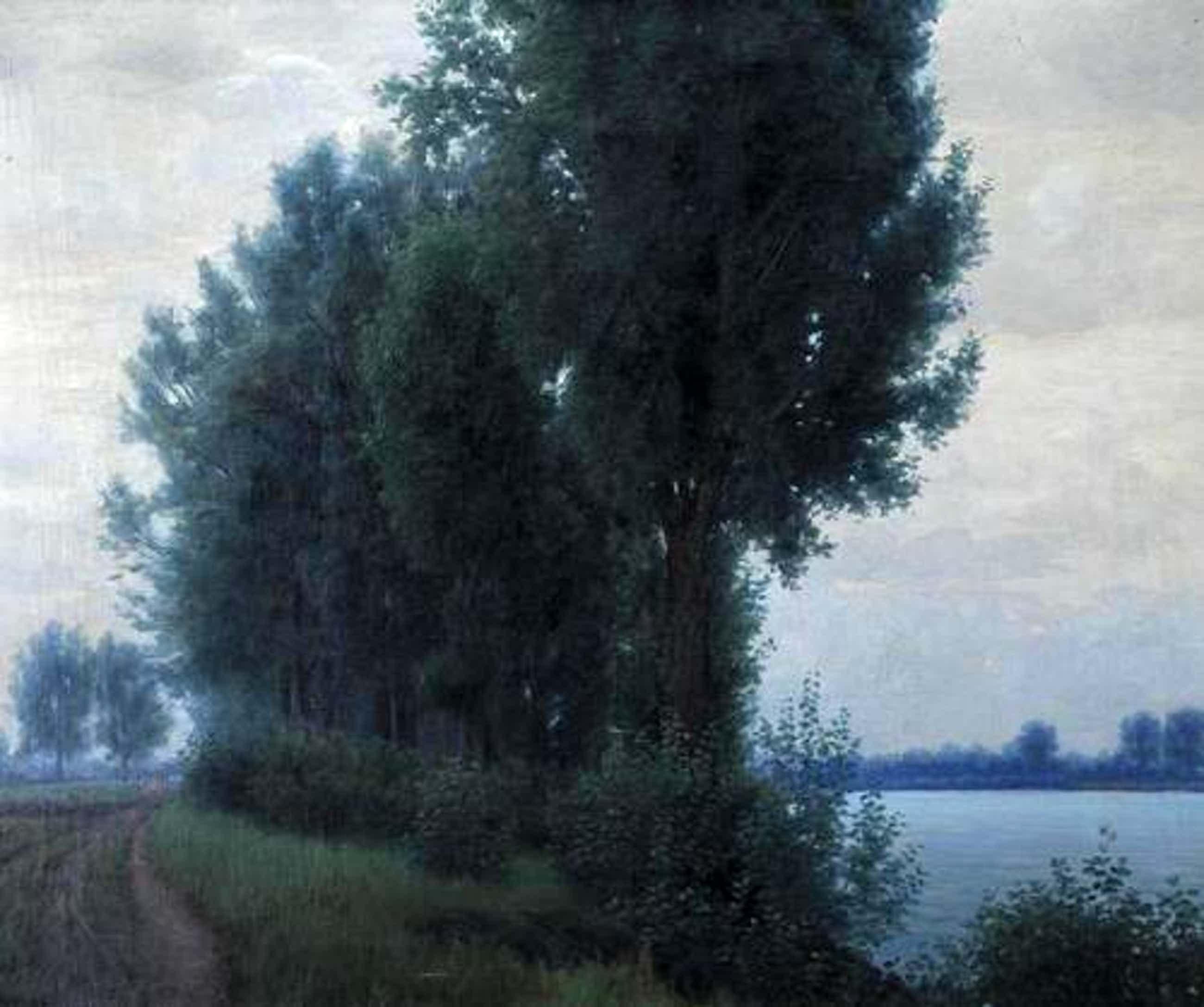 Karl Schade - Bäume am Donau-Ufer kopen? Bied vanaf 2700!