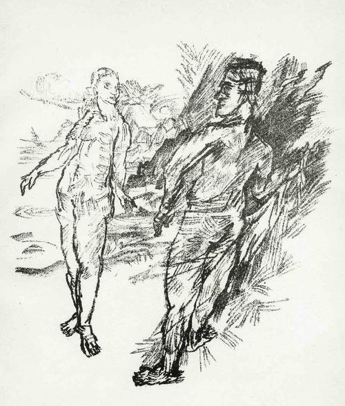 Oskar Kokoschka - BEGEGNUNG - 1921 - Lithographie zum GEFESSELTEN KOLUMBUS (Prof a.d.DRESDNER AKADEMIE) kopen? Bied vanaf 62!