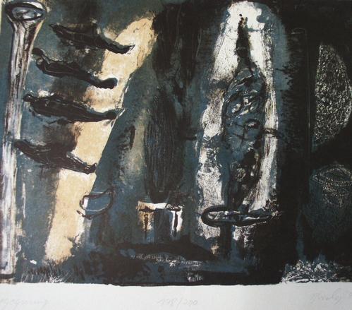 Roland Borchers - Begegnung, Lithographie, signiert, numeriert, 1990 kopen? Bied vanaf 70!