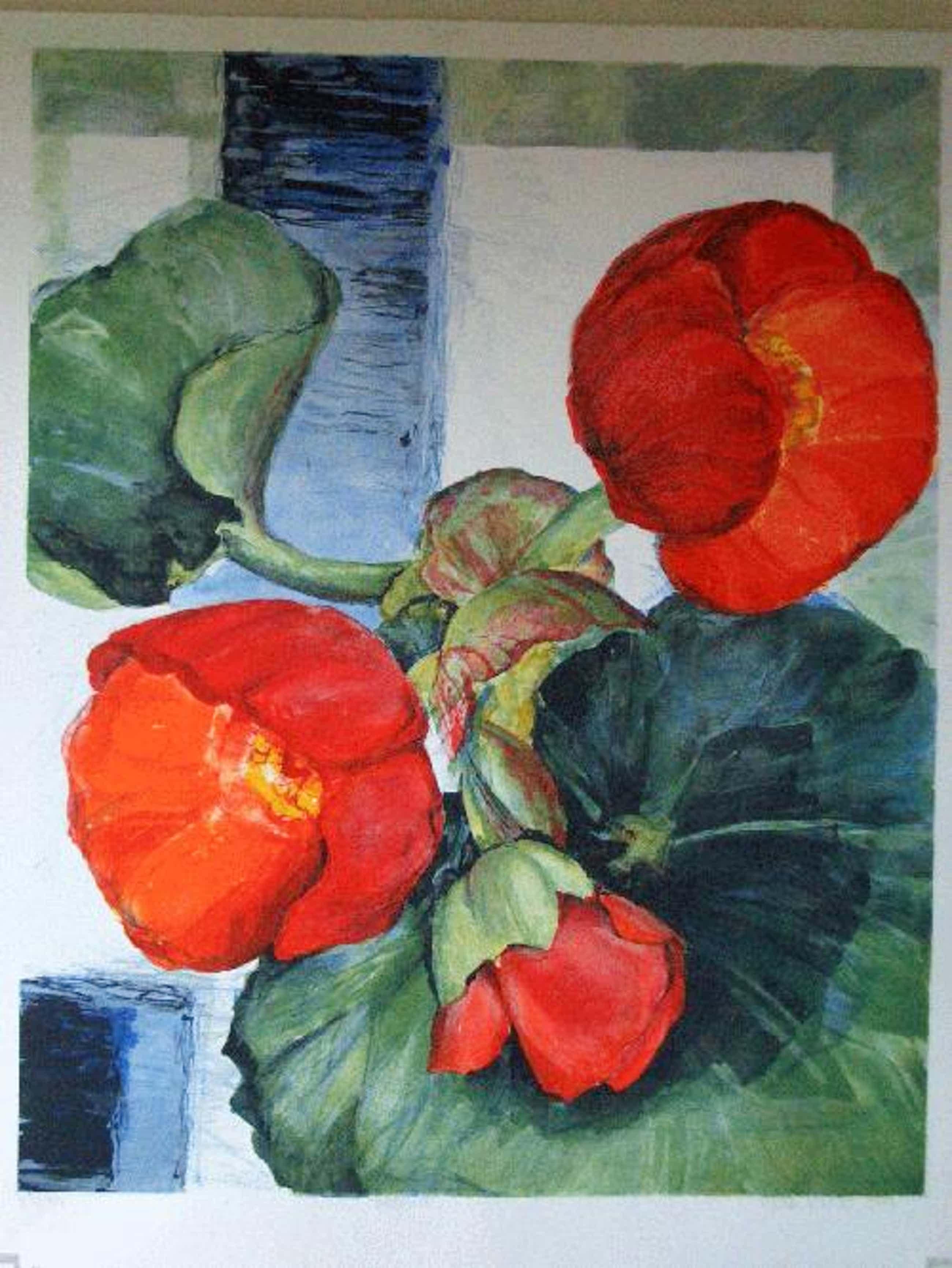 Gerda Nietzer - Begonie, Farblithographie 1999 kopen? Bied vanaf 190!