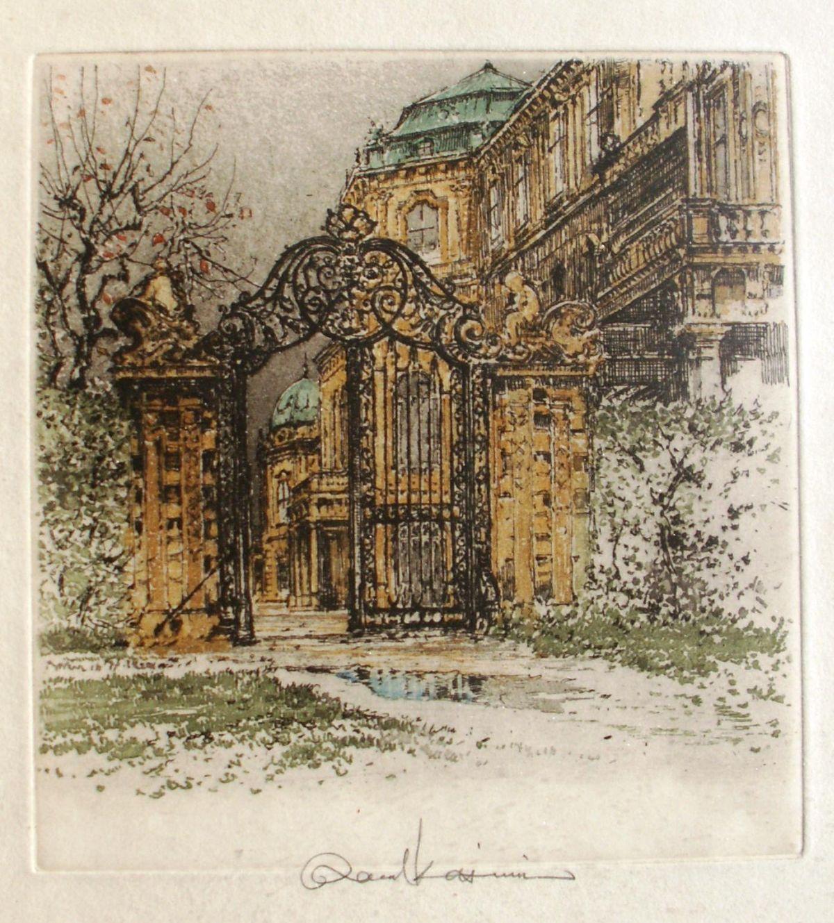 Robert Kasimir - Belvedere, Wien, Farbradierung kopen? Bied vanaf 110!