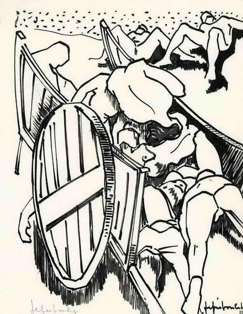 Jef Friboulet - BERGE aus LEIBERN - 1962 Handsigniert Druckgraphik des BILDHAUERs aus der NORMANDIE kopen? Bied vanaf 35!