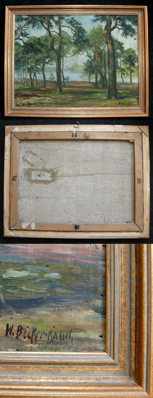 Willy Becker-Kassel - Bewaldetes Flußufer. Gemälde, um 1910. kopen? Bied vanaf 330!