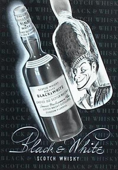 Günther Löper - - BLACK and WHITE SCOTCH-WHISKY - Aquarell/Tusche - Original WerbeVorlage 40/50gerJahre kopen? Bied vanaf 65!
