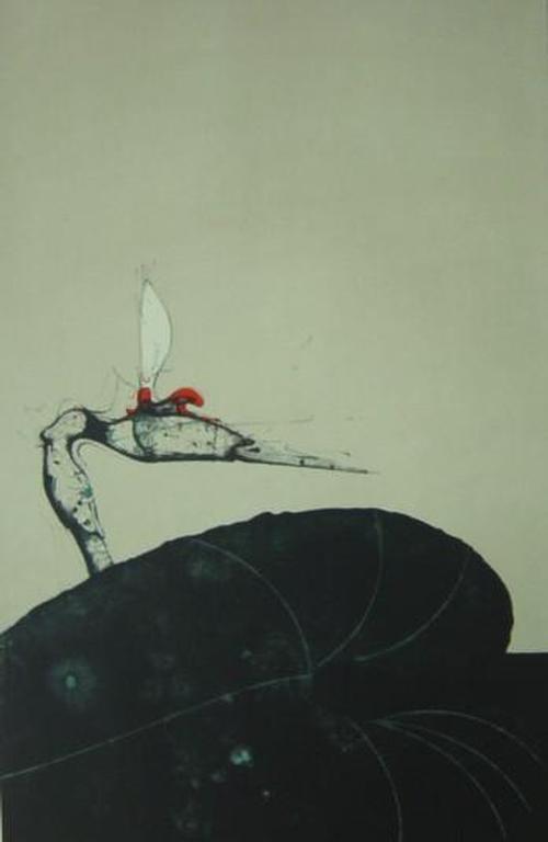 Paul Wunderlich - Blume für Gresko, 1969, Farblitho, Faksimile-Signatur, Bild 48x32 cm, Blatt 60x45 cm, Brusberg 283 kopen? Bied vanaf 135!
