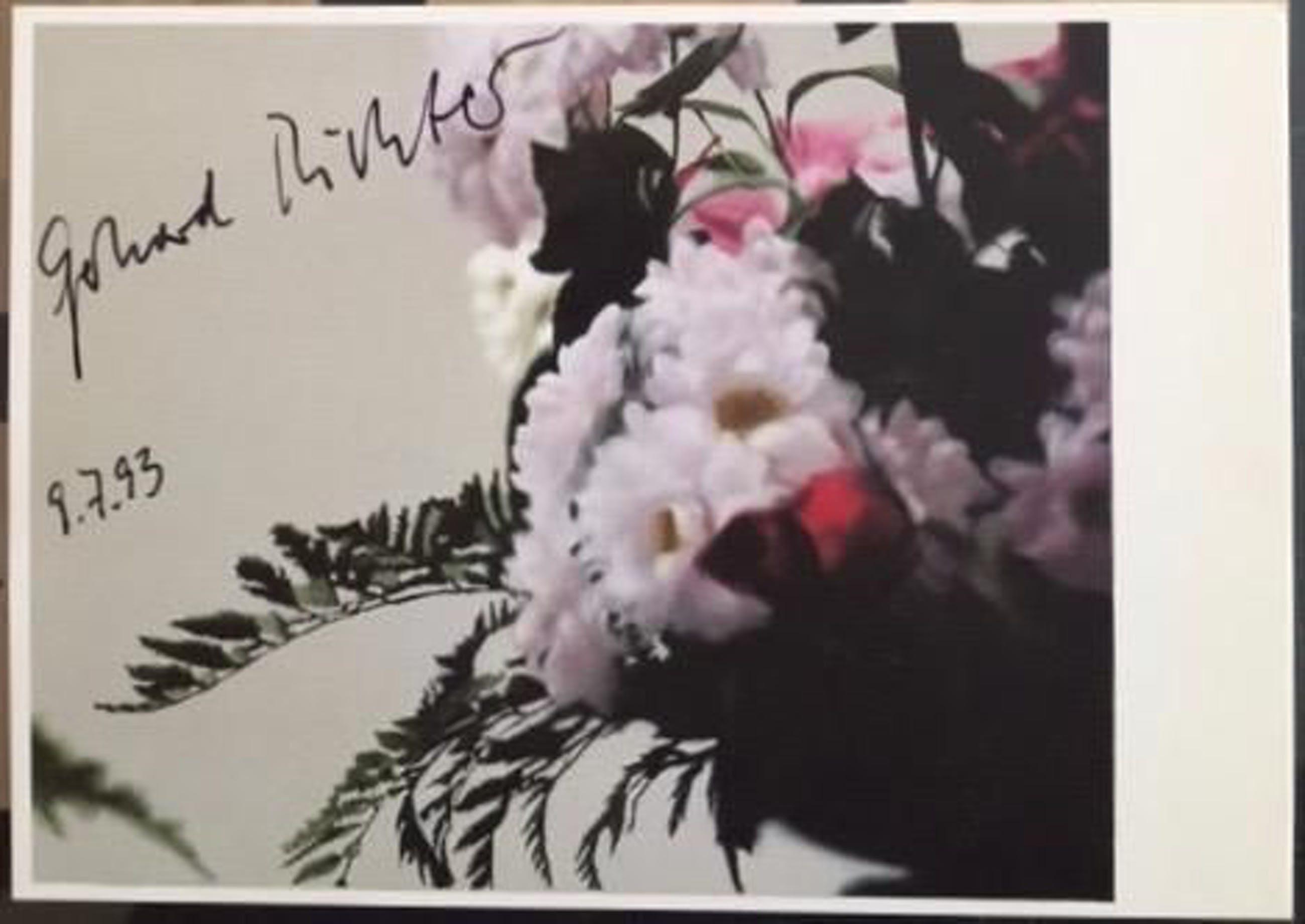Gerhard Richter - Blumen 1992, Handsignierte KPK von der documenta IX, 8/10 kopen? Bied vanaf 650!