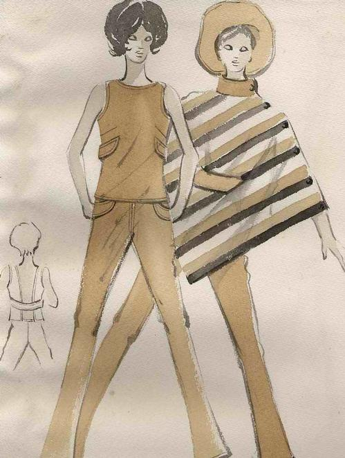 Edmondus Prof. Sugiarto - BOLERO & PONCHO - OriginalAquarell des BIELFELDer Professoren und Designer in BERLIN kopen? Bied vanaf 35!