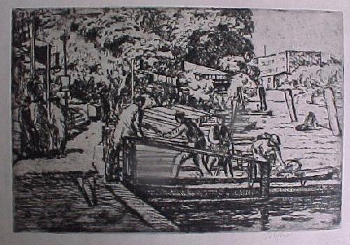 Erich Büttner - Bootsteg am neuen See im Tiergarten, 1915 kopen? Bied vanaf 80!
