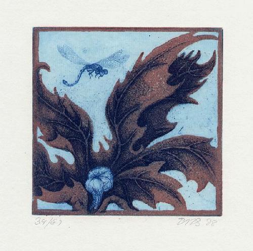 Christoph Hessel - - BOZENER APFELHAIN - OriginalFarbradierung des Künstlers aus SÜSSEN - 1978, signiert, datiert, num. kopen? Bied vanaf 45!