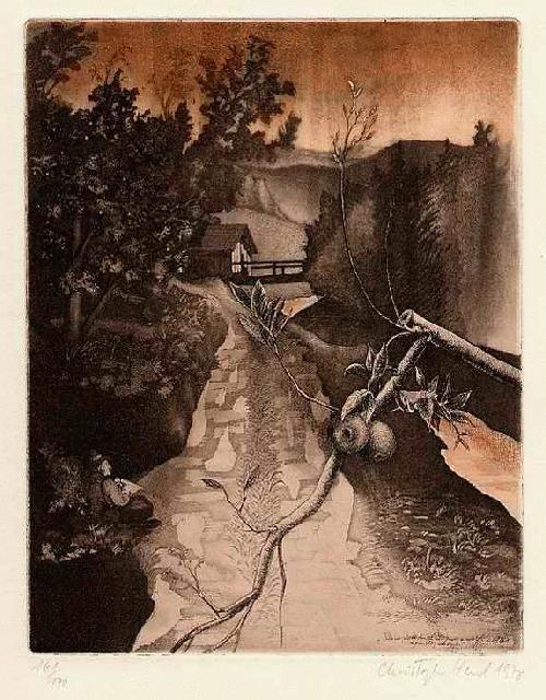 Christoph Hessel - - BOZENER APFELHAIN - Original Farbradierung des Künstlers aus SÜSSEN - handsigniert 1978 kopen? Bied vanaf 25!