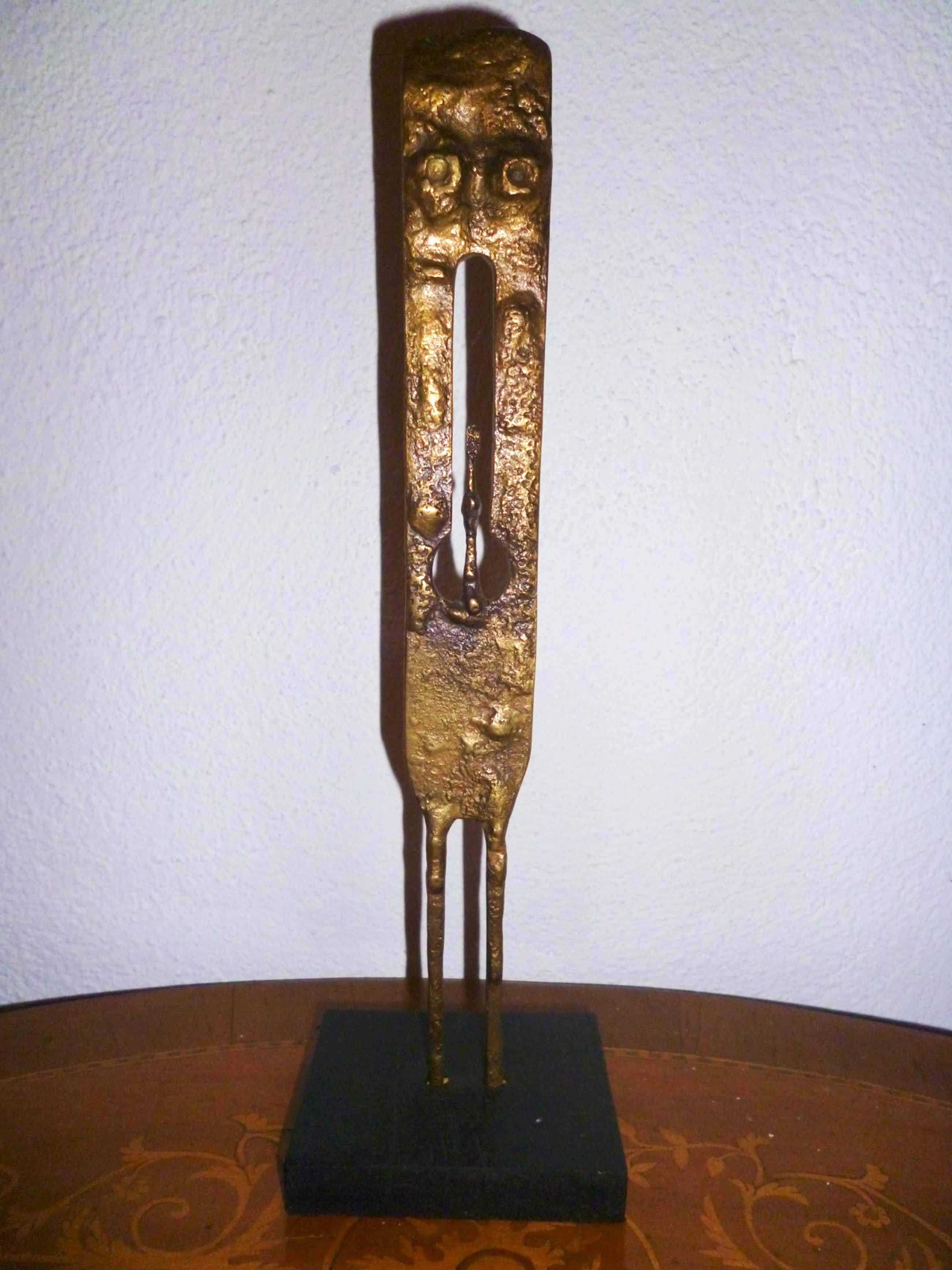 """Herbert Press - Bronze, """"man"""" , 1971 kopen? Bied vanaf 330!"""