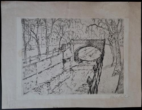 Ulrich Hübner - Brücke am Landwerhrkanal Original-Radierung kopen? Bied vanaf 195!