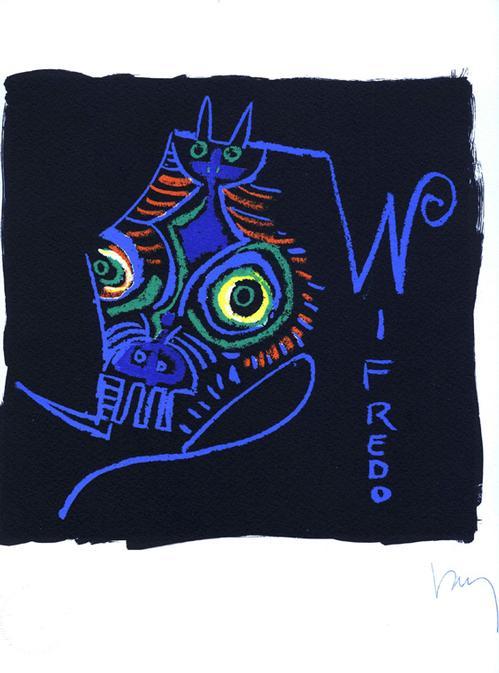 Wifredo Lam - Buchstabe W, Fotolitho 1973, num. und handsigniert kopen? Bied vanaf 120!
