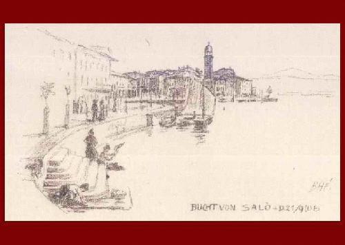 Bruno Heroux - BUCHT VON SALÓ - Orig.Lithographie, im Stein signiert, bezeichnet, datiert 1906 kopen? Bied vanaf 25!