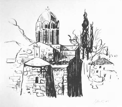 Eylert Spars - BYZANTINISCHE KIRCHE in ATHEN -handsignierte OriginalLithographie d.HAMBURGers (Edwin-Scharf Preis) kopen? Bied vanaf 55!