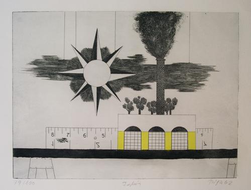 "Karl Bianga - Carl Bianga Original-Radierung ""Fabrik"" 1962 kopen? Bied vanaf 30!"