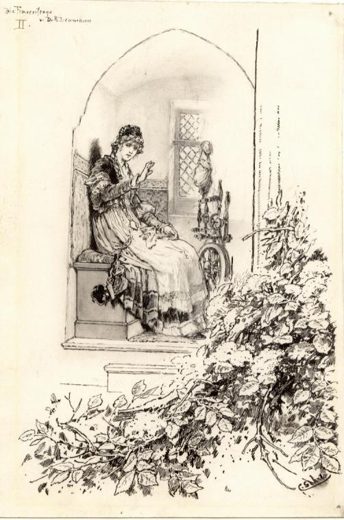 Carl Gehrts - Carl Gehrts Illustration Signierte kleine Zeichnung kopen? Bied vanaf 140!