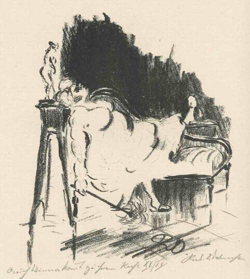 Rudolf Odebrecht - CH MINNA KOMMT zu IHREM RECHT - Handsignierte & titulierte OriginalLithographie 1925 kopen? Bied vanaf 650!