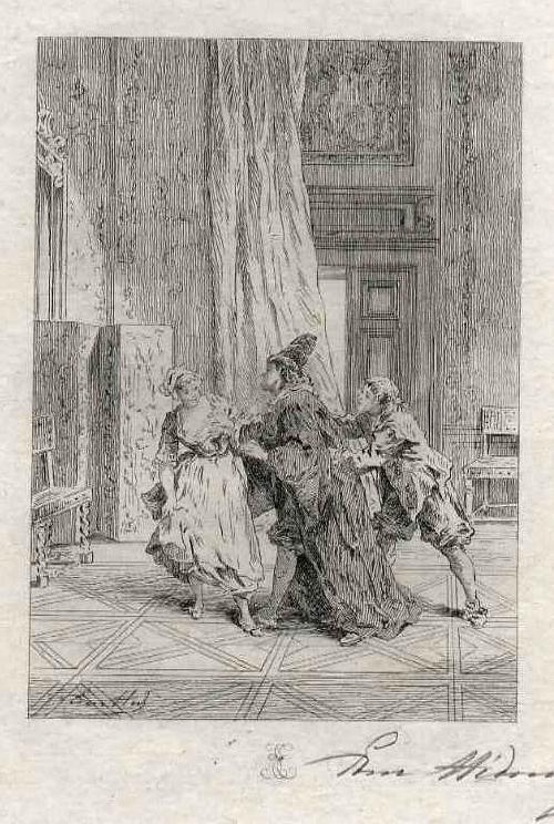 Edmond Hèdouin - Charmante OriginalRadierung zu MOLIÈREs Theater - Handsigniert/ EAU FORTE Originale Signée au crayon kopen? Bied vanaf 39!