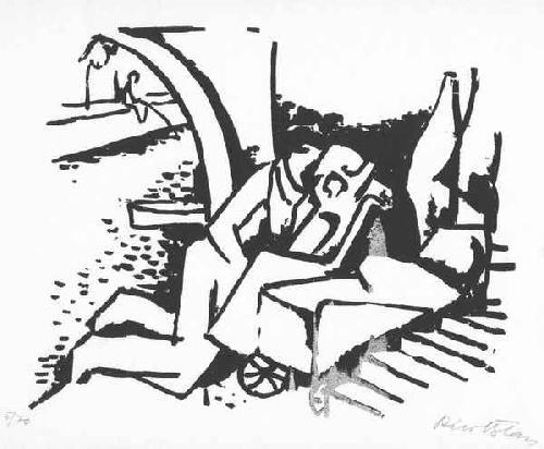Rico Blass - CLOCHARDs an der SEINE - Handsignierter OriginalSiebdruck des Otto MÜLLER-Schülers kopen? Bied vanaf 65!