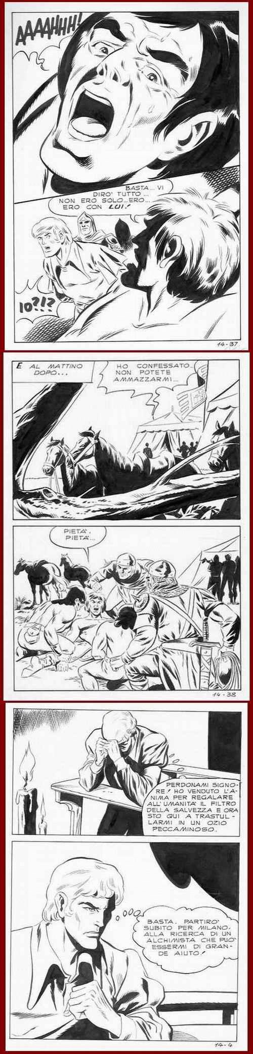Leone Frollo - COMIC-ART : FOLTER & BUßE - 3 Blatt OriginalFederzeichnungen d.berühmten VENEZIANERS um 1970 kopen? Bied vanaf 65!