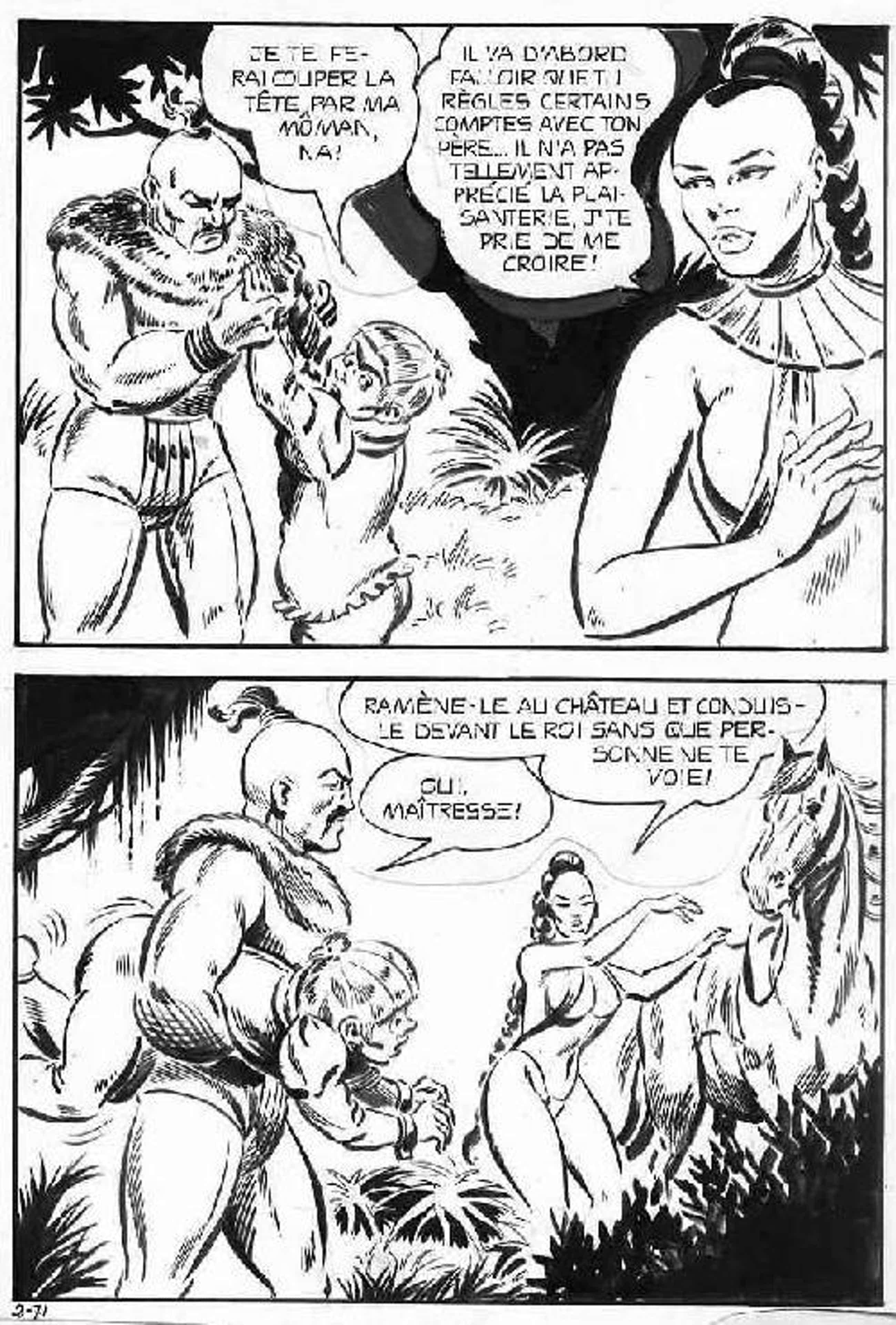 Dino Leonetti - COMIC-ART : AMAZONE, ZWERG & WILDER KRIEGER OriginalFederzeichnung des grossen Zeichners aus FLORENZ kopen? Bied vanaf 35!