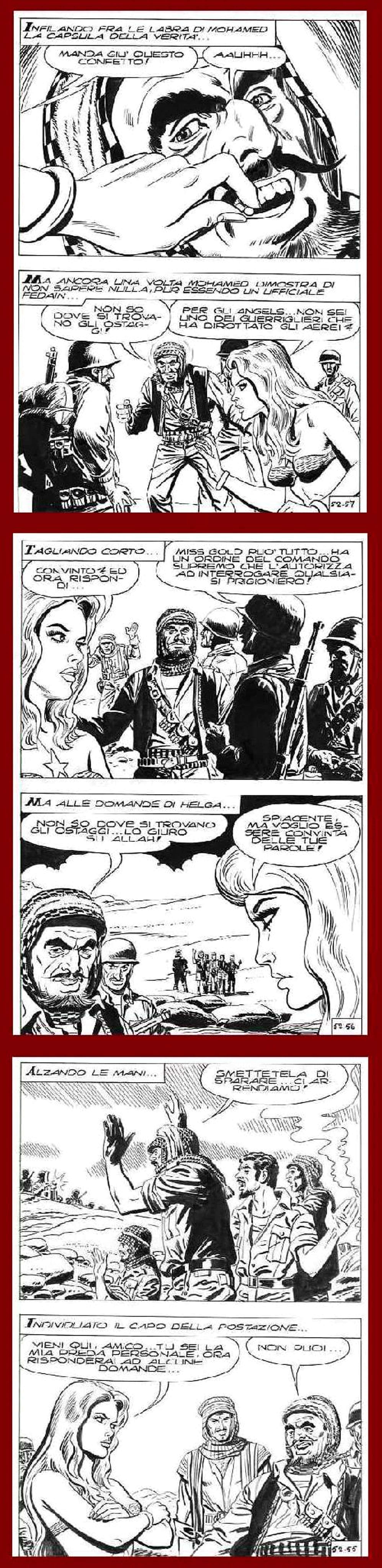 Sergio Tuis - COMIC-ART : HELGA -GEFAHR im ORIENT - 6 OriginalFederzeichnungen des berühmten VENEZIAners - um 1970 kopen? Bied vanaf 65!