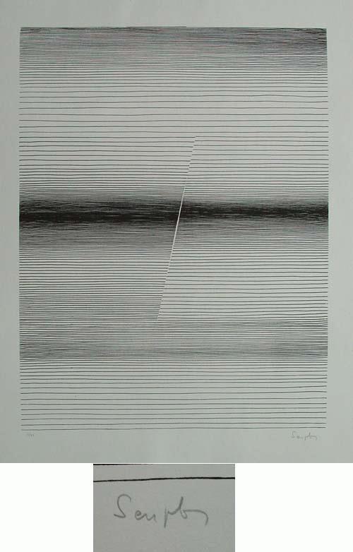 Michel Seuphor - - Commencement - Serigrafie, handsigniert, numeriert, 1961 kopen? Bied vanaf 390!